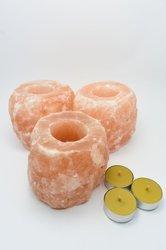 3x Świecznik z soli himalajskiej 30x tealight WP