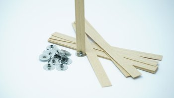 Knot drewniany do wosku stopki gratis 5 szt 15 cm