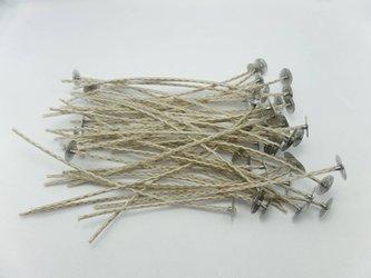 Knoty bawełniane z blaszkami knoty 15 cm 10 szt.