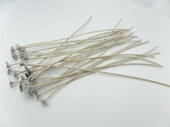 Knoty bawełniane z blaszkami knoty 20 cm 50 szt.