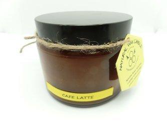 Świeca w słoiku z wosku pszczelego cafe late 500 ml