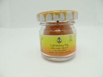 Świeca w słoiku z wosku pszczelego cytrusowy raj 40 ml