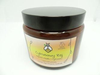 Świeca w słoiku z wosku pszczelego cytrusowy raj 500 ml