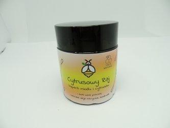 Świeca w słoiku z wosku pszczelego pomarańcze z limetką 120 ml