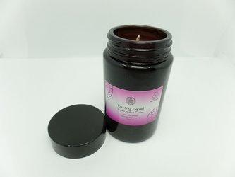 Świeca w słoiku z wosku pszczelego różany ogród 240 ml
