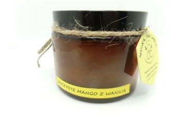Świeca w słoiku z wosku pszczelego soczyste mango z wanilią 500 ml