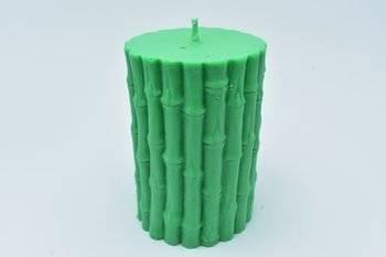 Świeca zielona wolno stojąca wosk sojowy BAMBUS