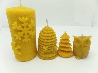 Zestaw ŚWIĄTENCZY czterech świec + worek pszczelarza prezent III
