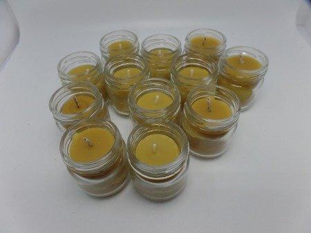 Ekologiczna świeca w słoiku z wosku pszczelego