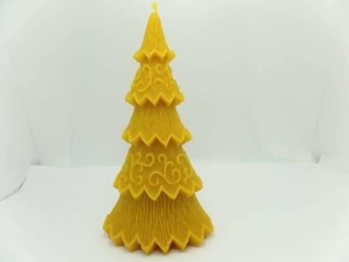 Świeca świąteczna choinka z wosku pszczelego