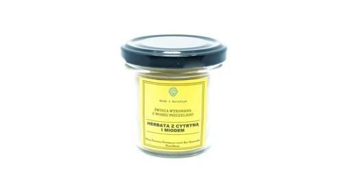 Świeca w słoiku z wosku pszczelego herbata z cytryną i miodem 120 ml