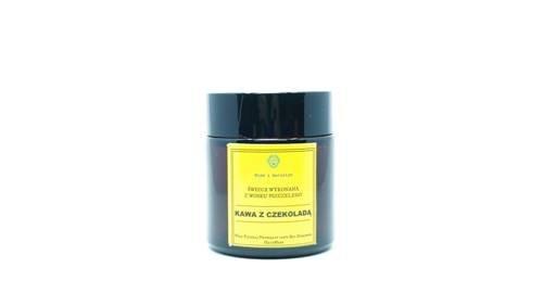 Świeca w słoiku z wosku pszczelego kawa z czekoladą 120 ml