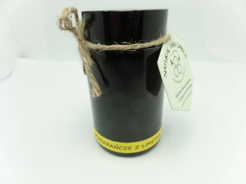 Świeca w słoiku z wosku sojowego pomarańcze z limetką 200 ml