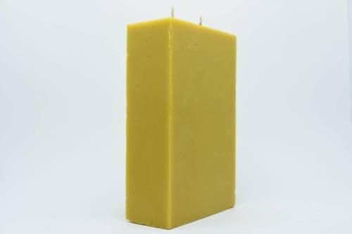 Świeca z wosku pszczelego kwadrat 2 knoty