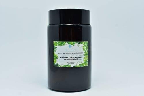 Świeca z wosku sojowego czekolada truskawka 240ml