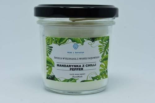 Świeca z wosku sojowego mandarynka z chili 120ml