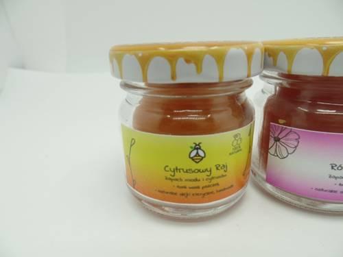Zestaw 3 świec w słoiku z wosku zapachowe 40 ml