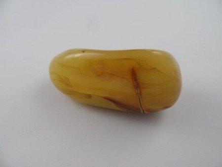 bryłka bursztynu ręcznie polerowana szlifowana