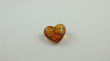 bursztyn bałtycki serce koniak łuskowany inkluzje 3,0 g